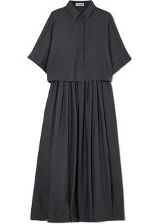 Jil Sander Layered Wool Shirt Dress