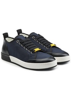 Jil Sander Leather and Canvas Sneakers