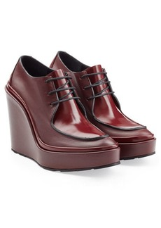 Jil Sander Leather Lace-Up Wedges