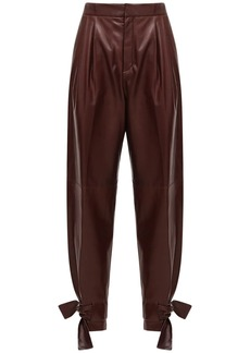 Jil Sander Leather Straight Pants