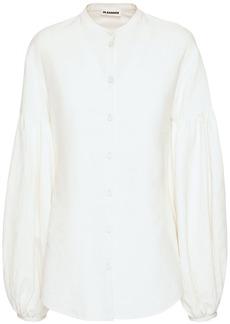 Jil Sander Linen Shirt W/ Balloon Sleeves