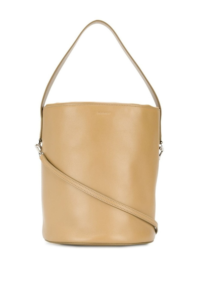 Jil Sander logo-embossed bucket bag