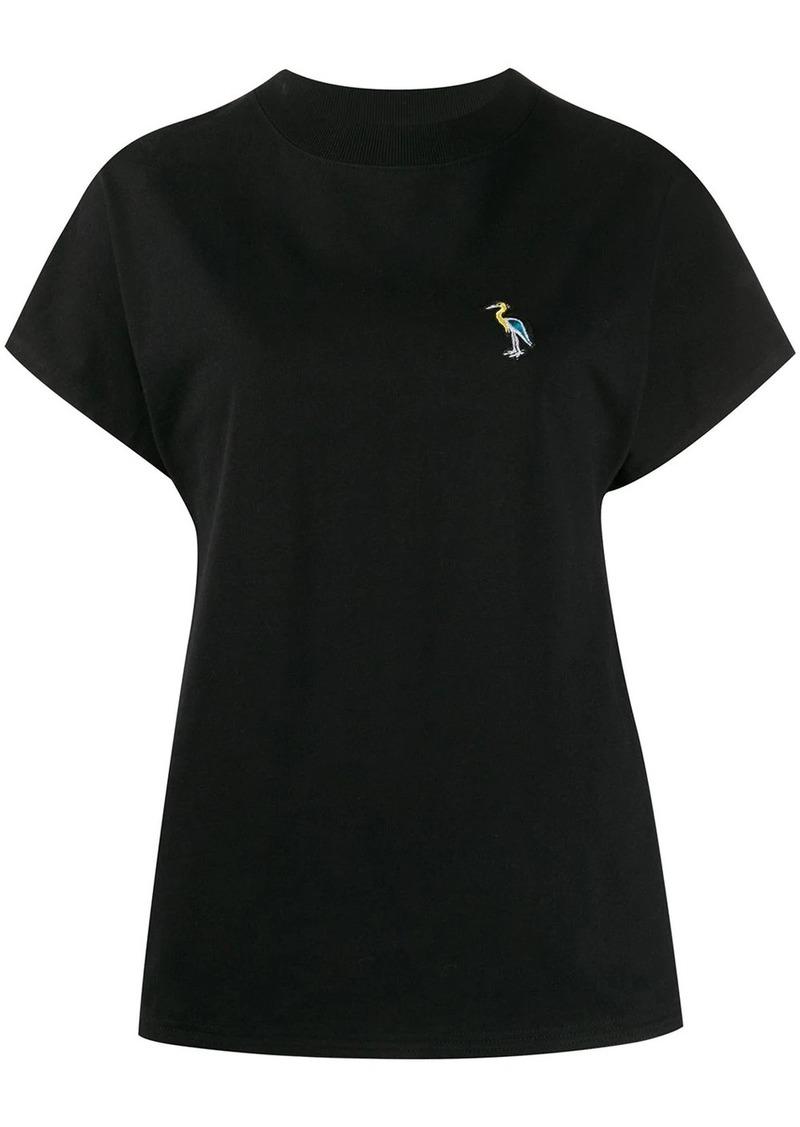 Jil Sander logo embroidered T-shirt