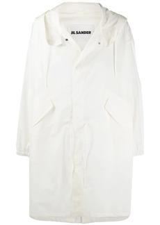 Jil Sander logo-print coat
