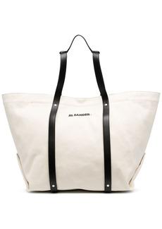 Jil Sander logo-print tote bag