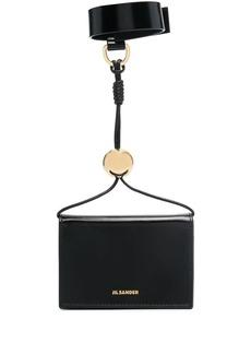 Jil Sander logo-print wristlet wallet