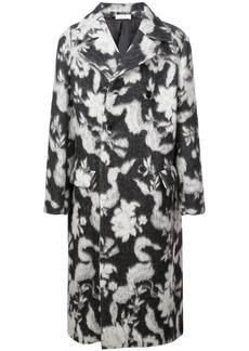Jil Sander long floral pattern coat