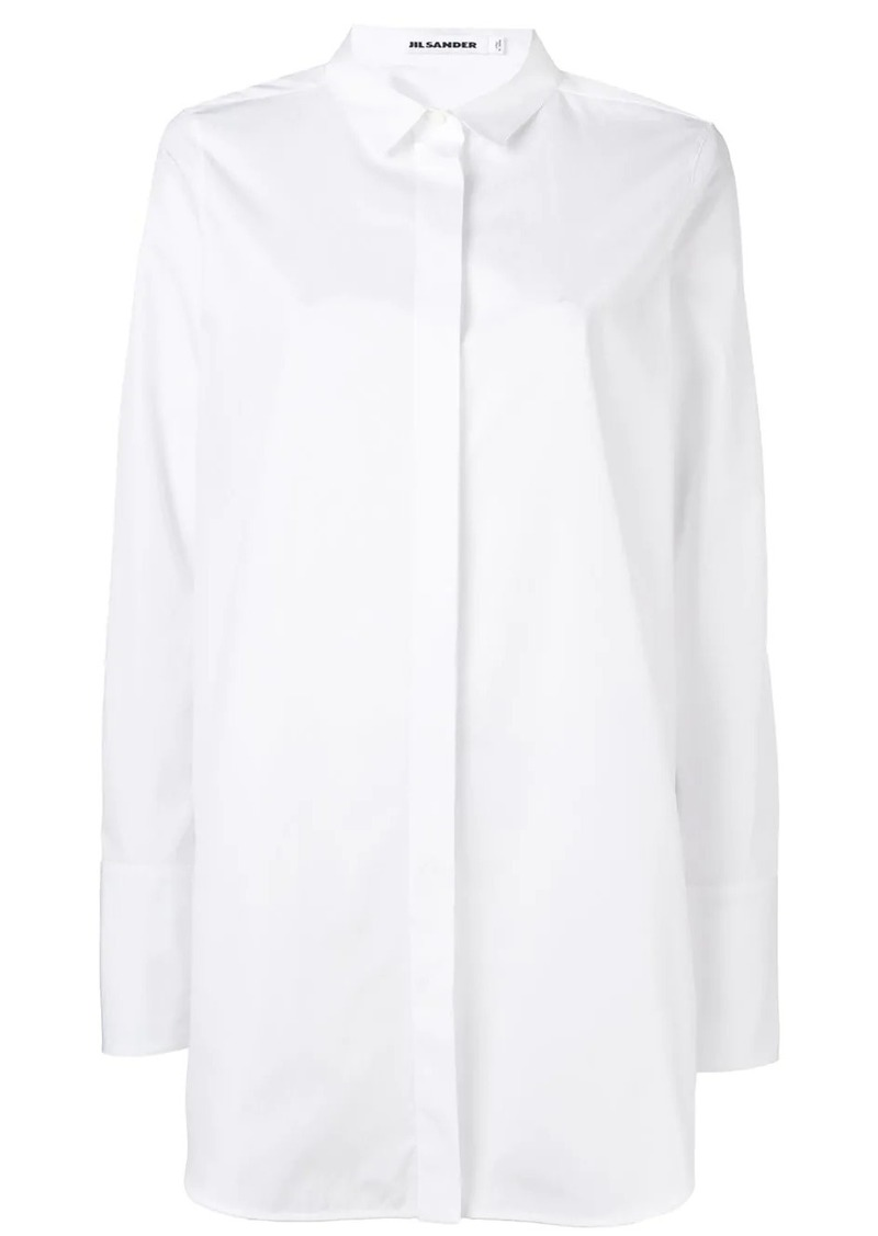 Jil Sander long-line classic shirt