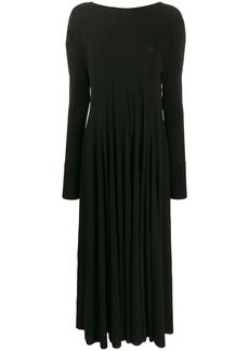 Jil Sander long ruffle drape dress