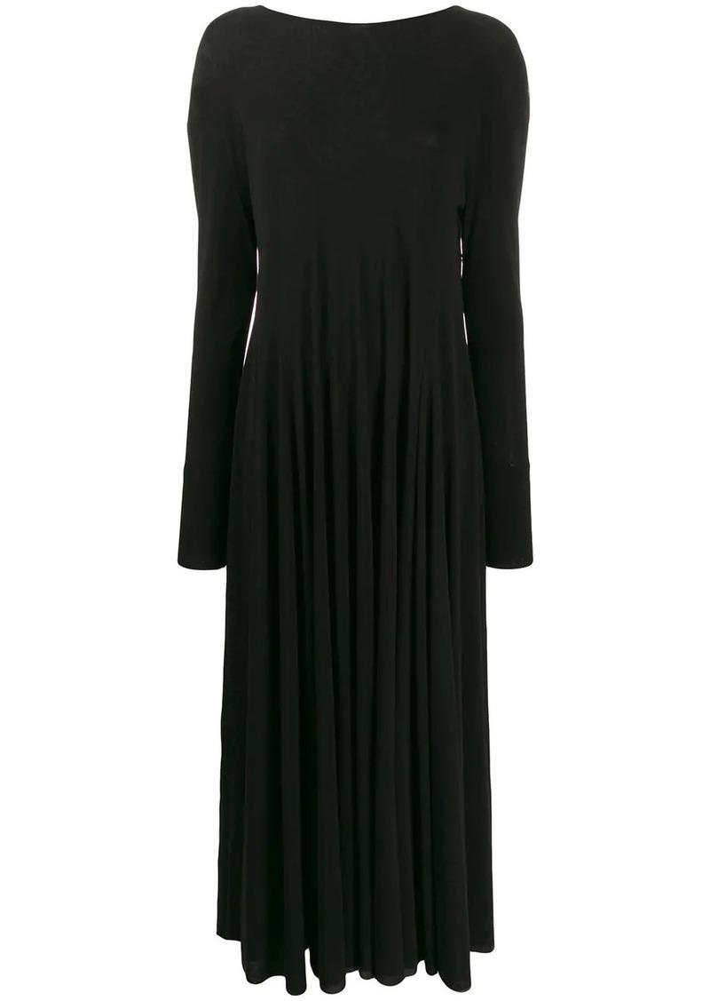 Jil Sander long ruffle drape dress