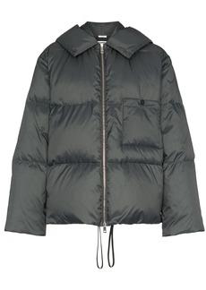Jil Sander long sleeve hooded puffer jacket