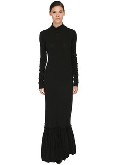 Jil Sander Long Stretch Tulle Dress