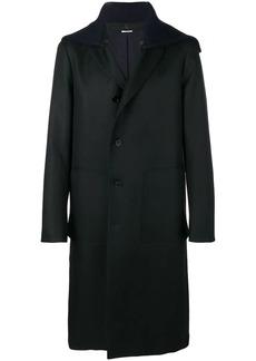 Jil Sander loose hooded coat