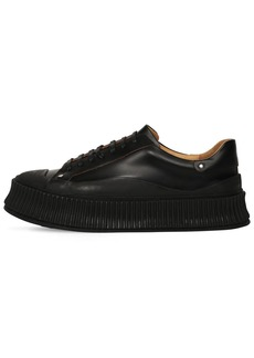 Jil Sander Low-top Leather Sneakers W/ Studs