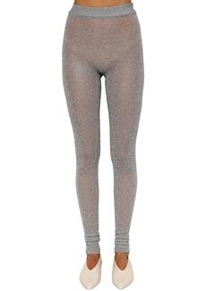 Jil Sander Lurex High Waist Knit Pants