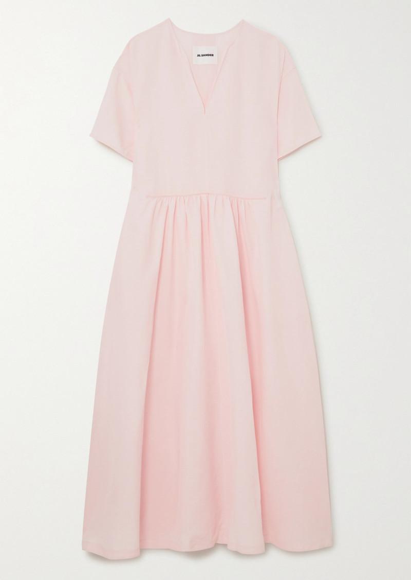 Jil Sander Marabel Voile Maxi Dress