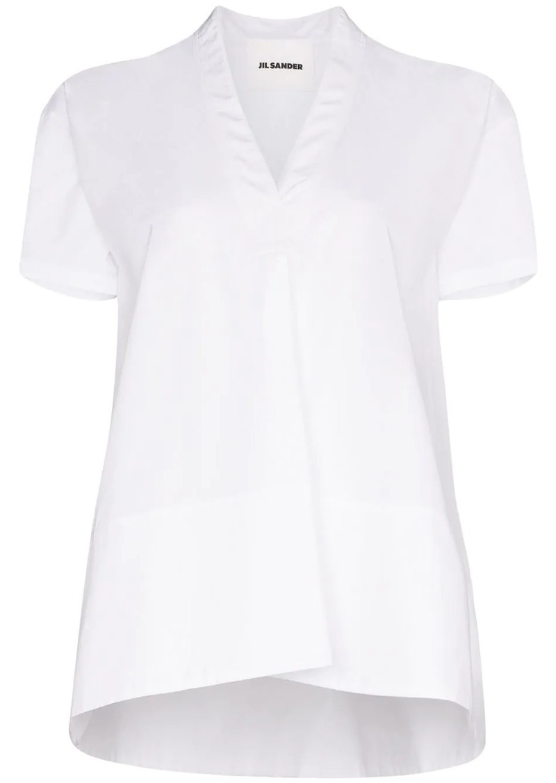 Jil Sander Maria oversized cotton blouse