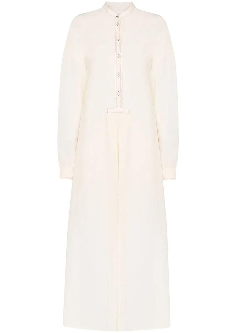 Jil Sander Marina collarless shirt dress