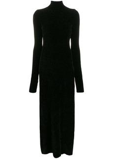 Jil Sander chenille knitted maxi dress