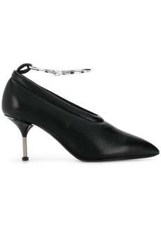 Jil Sander metal buckle pumps