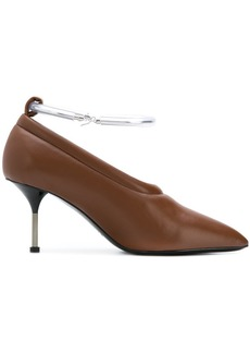 Jil Sander metal strap pumps