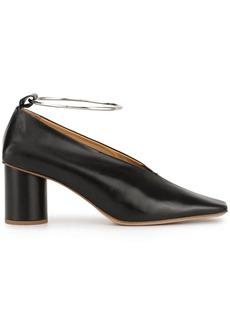 Jil Sander metallic ankle cuff pumps