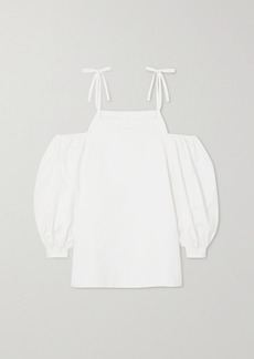 Jil Sander Cold-shoulder Organic Cotton-poplin Blouse