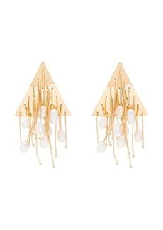 Jil Sander multi-line pearl earrings