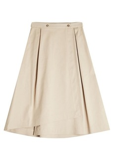 Jil Sander Navy A-Line Cotton Skirt