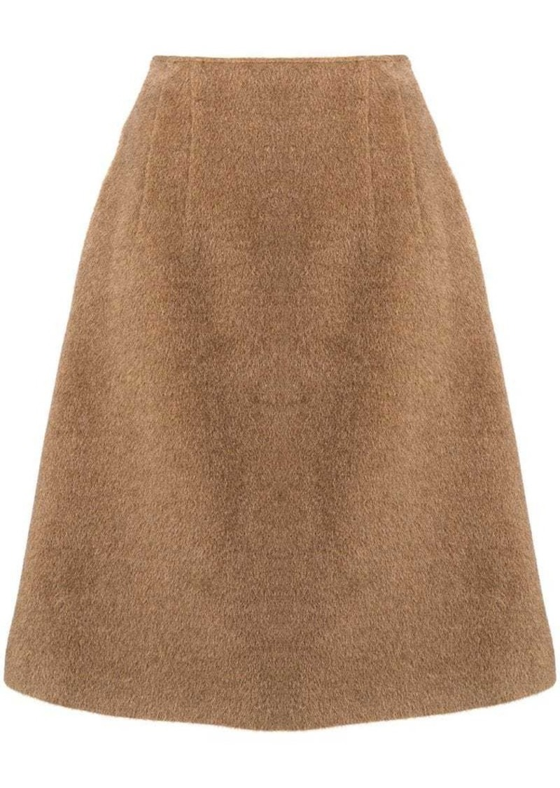Jil Sander Navy A-line flared skirt
