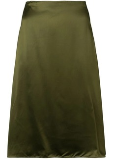 Jil Sander Navy A-line midi skirt