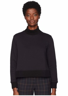 Jil Sander Navy A-Line Sweatshirt with Knit Details
