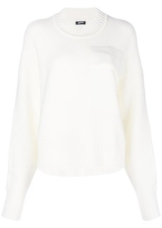 Jil Sander Navy appliqué ribbed sweater