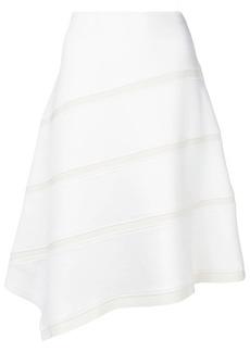 Jil Sander Navy asymmetric midi skirt