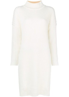 Jil Sander Navy bicolour knit dress