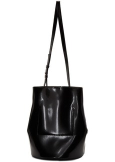 Jil Sander Navy Black Faux-Leather Bucket Bag
