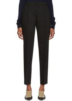 Jil Sander Navy Black High-Waisted Trousers