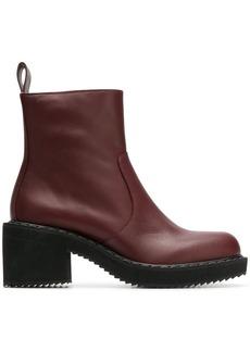 Jil Sander Navy block heel ankle boots