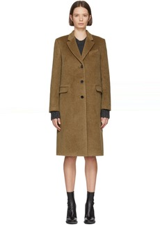 Jil Sander Navy Brown Wool & Mohair Overcoat