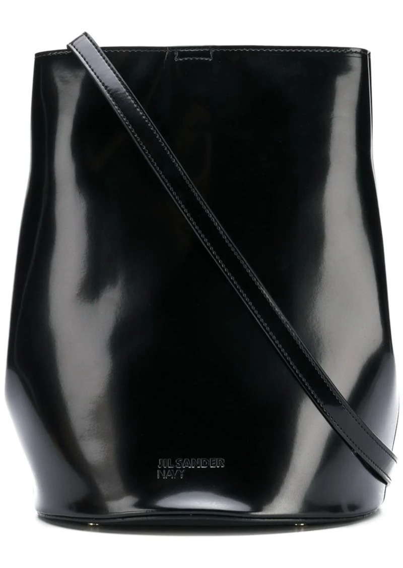 a6a55f628f Jil Sander Navy bucket shoulder bag