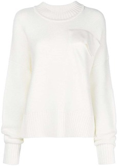 Jil Sander Navy chest-pocket sweater