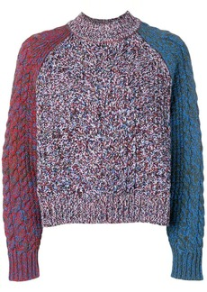 Jil Sander Navy colour-block fitted sweater