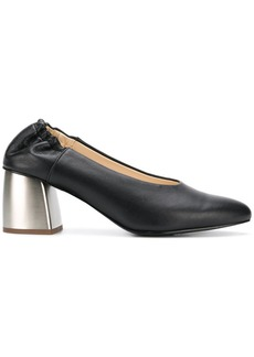 Jil Sander Navy contrast heel pumps