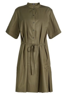 Jil Sander Navy Cotton Shirt Dress