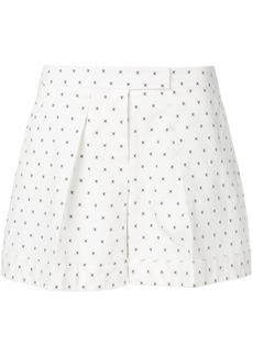 Jil Sander Navy cross pattern shorts