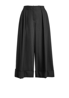 Jil Sander Navy Culottes with Wool