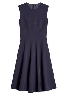 Jil Sander Navy Fit and Flare Dress