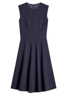 Jil Sander Navy Fit and Flare Dress