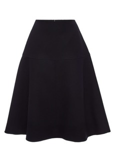 Jil Sander Navy Fleece Wool Skirt