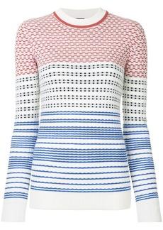 Jil Sander Navy graphic knit sweater